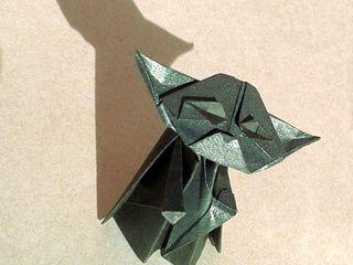 Meditating Origami Yoda