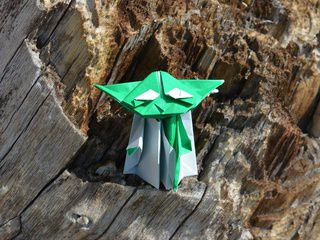 Origami Yoda on a distant barren planet