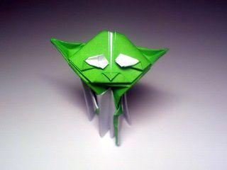 A cute origami Yoda