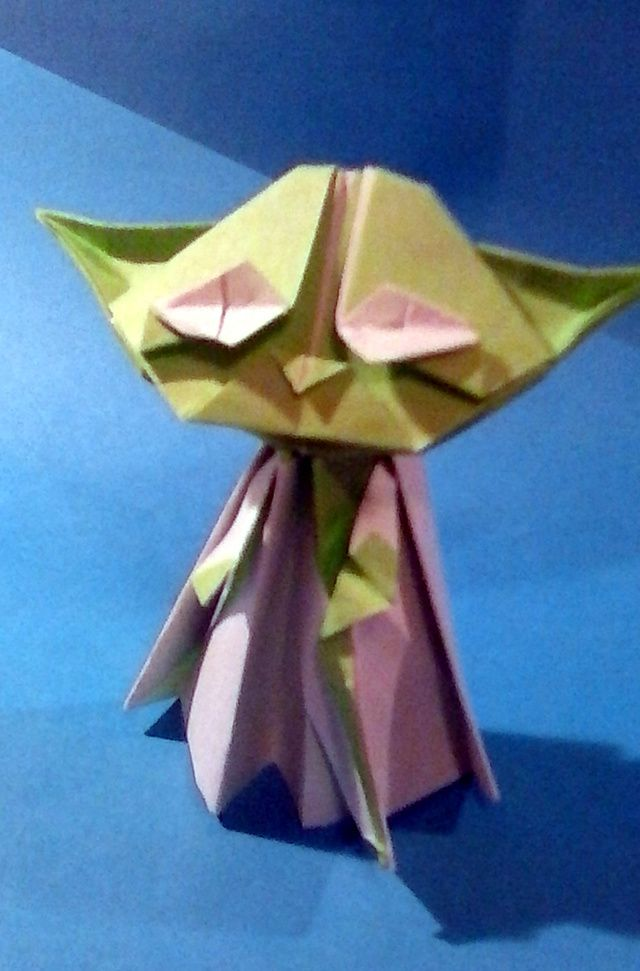 Another view of Origami Yoda.
