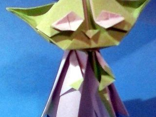 Origami Yoda folded by Penny Stonecypher