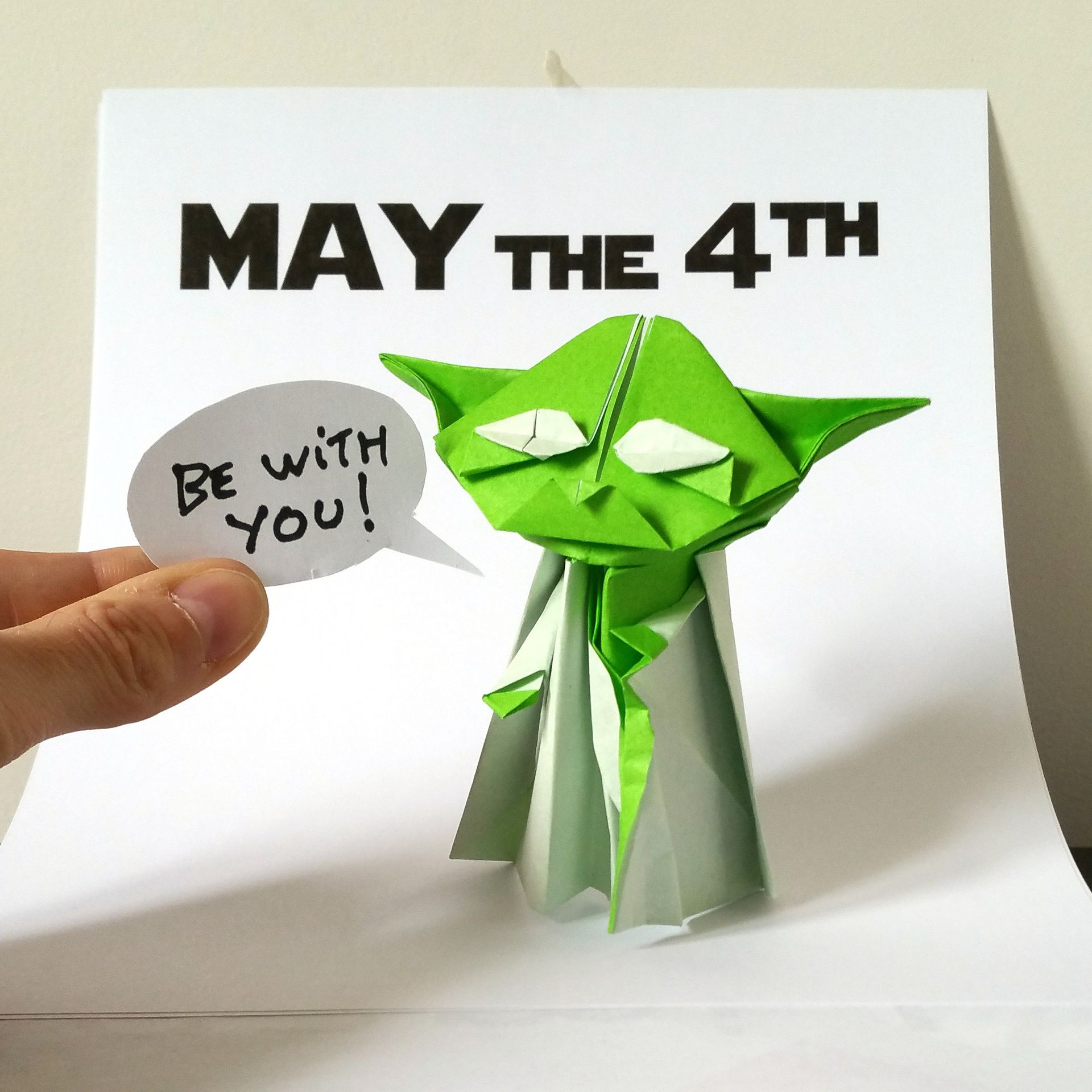 Origami Master Yoda Pictures