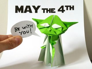 May the 4th Be With You, Best Day of the Year to Fold an Origami Yoda!