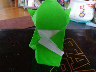 A very cute origami Yoda